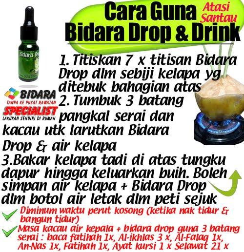 cara guna bidara drop & drink