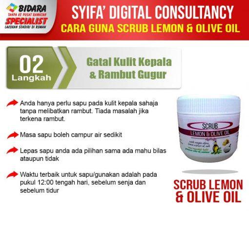 scrub lemon olive oil